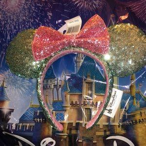 Pink and green Disney Mickey Mouse Ears Headband